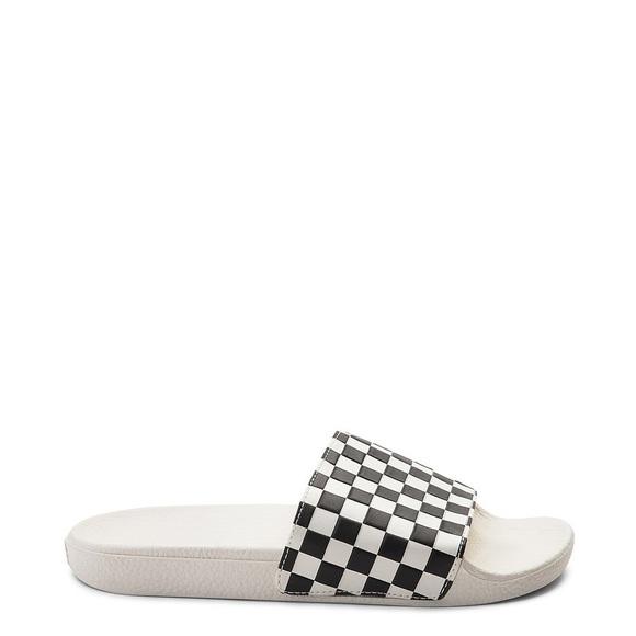 Vans Shoes | Checkered Slides | Poshmark